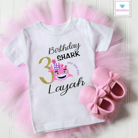 d9d18694c BabyGlitzz Shirts & Tops   Toddler Girls Birthday Shark Tee   Poshmark